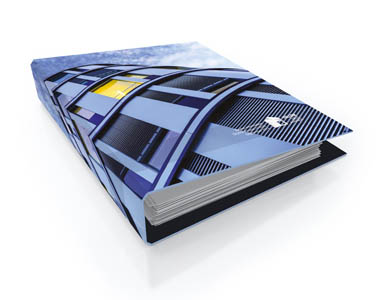 Presentation binders with printed inserts