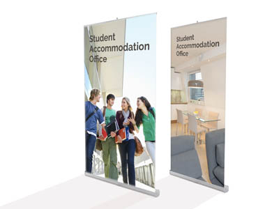 Wide banner stands