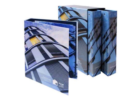 Custom printed ring binders & slipcases